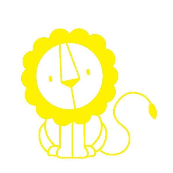 kleiner Löwe, gelb, Velours-Motiv zum Aufbügeln - PeppAuf.de