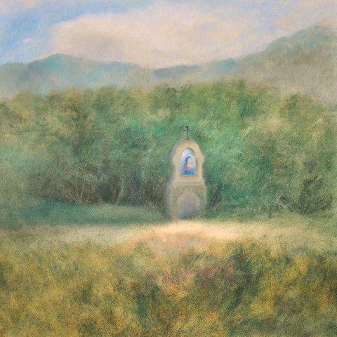 Old pilgrimage, oil painting by Lenka Kurovská