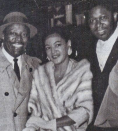Dottie Smith with band leader Louis Jordan (left) and guitarist B.B. King.