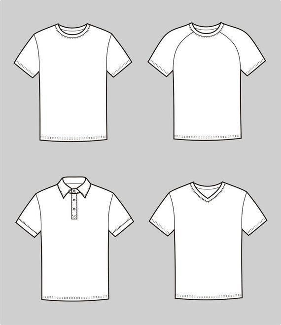 T Shirt Vector Fashion Flat Sketch Adobe Illustrator Design Technical Outline Flat Drawing Dig Shirt Illustration Shirt Drawing Illustration Fashion Design