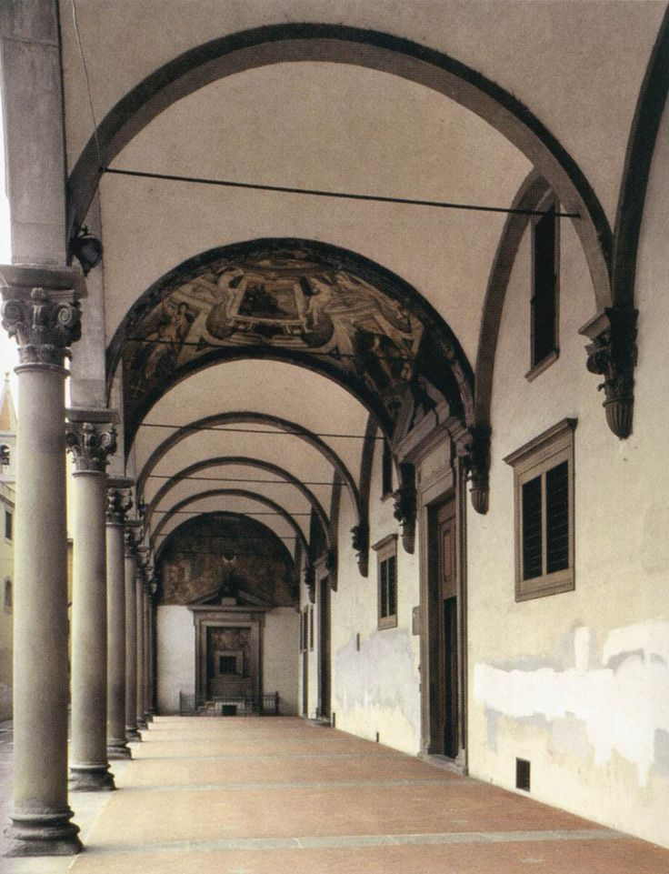 Portico 1419 26 ospedale degli innocenti florence for Architecture renaissance