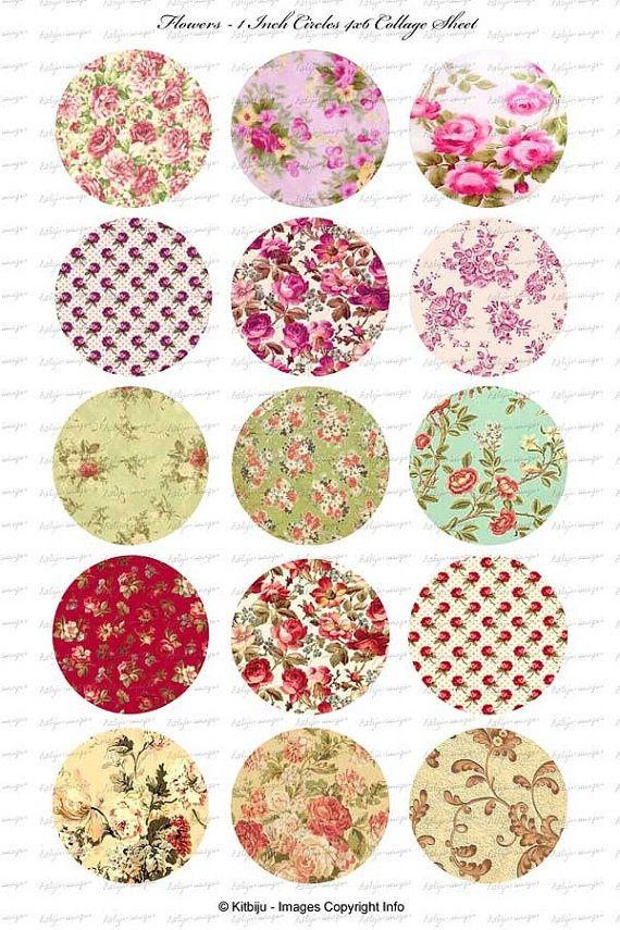 Red Quilt Patterned Bottle Cap Images: