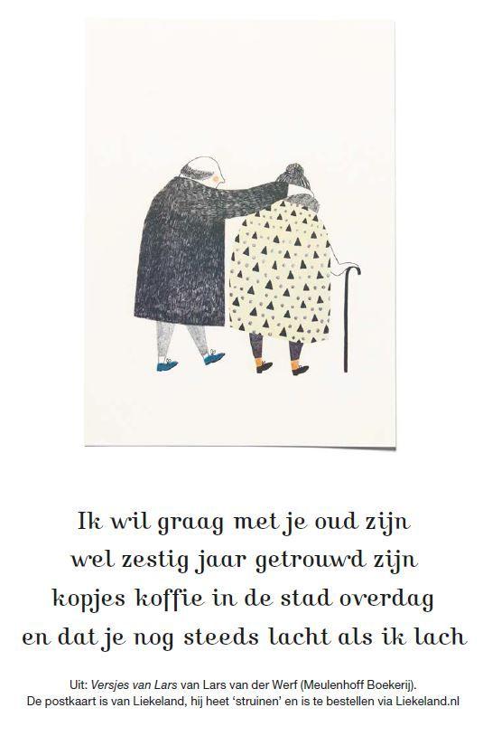 Deze quote is geschreven door Lars van der Werf en staat in Flow 8 – 2014. De postkaart is van Liekeland.