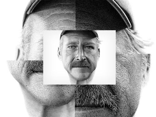 Over 2 million dots later and Miguel Endara has created this amazing portrait of 64 year old Benjaman Kyle, the only American citizen Offici...