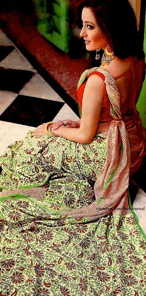 Raima Sen in printed crepe silk