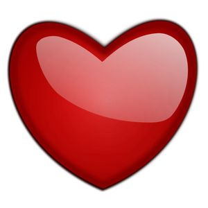 PublicDomainVectors.org-Ilustração em vetor de um coração vermelho brilhante. Cor simples desenho de um sinal de amor.