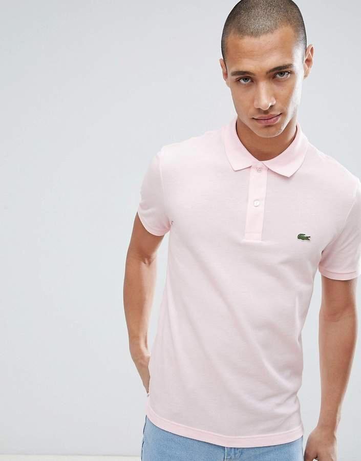 Lacoste Slim Fit Logo Polo Shirt In Pink #Golffashion | Polo shirt ...