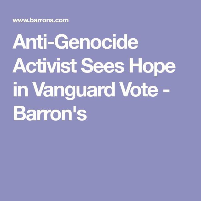 Anti-Genocide Activist Sees Hope in Vanguard Vote - Barron's