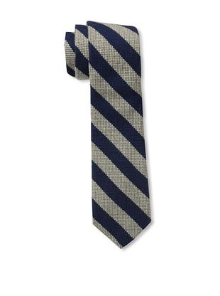 Gitman Brothers Men's Woven Stripe Tie, Khaki