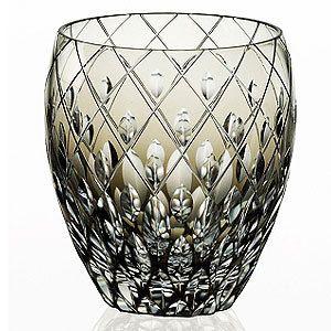 皇室御用品カガミクリスタル江戸切子焼酎ロックグラスガラス(硝子)