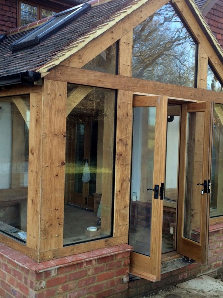 Oak Conservatory Porches And Doors House With Porch