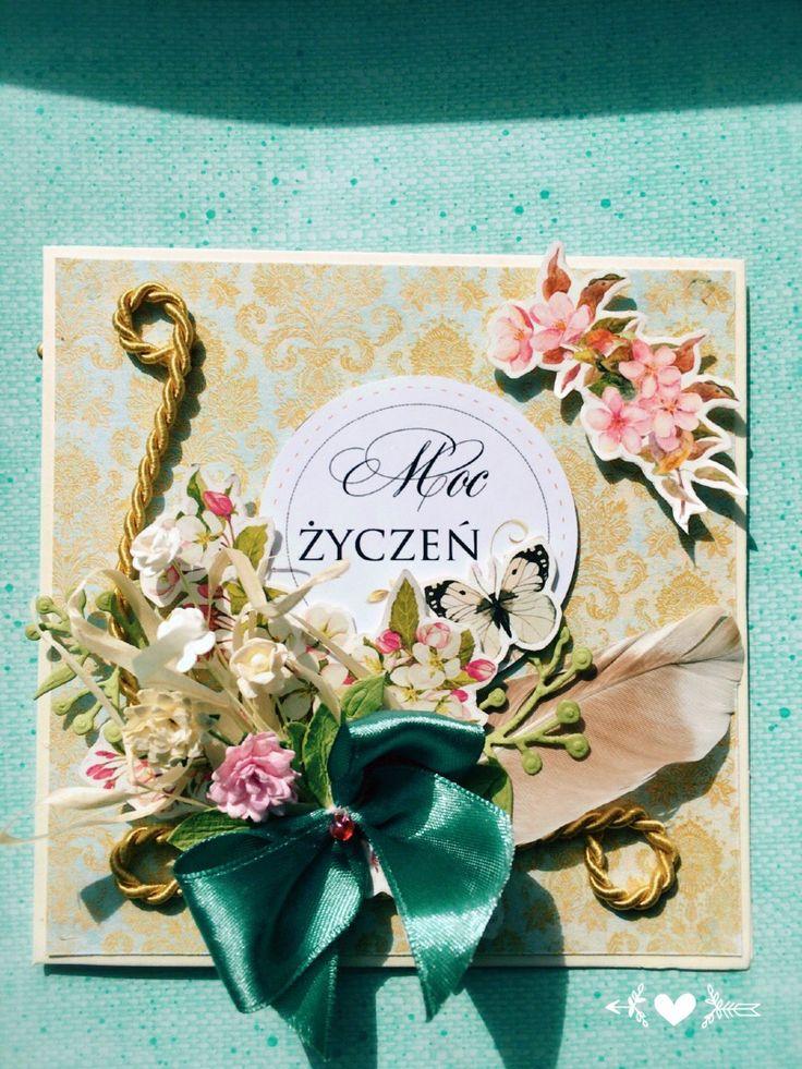 Kartka z życzeniami życzenia wishes handmade card
