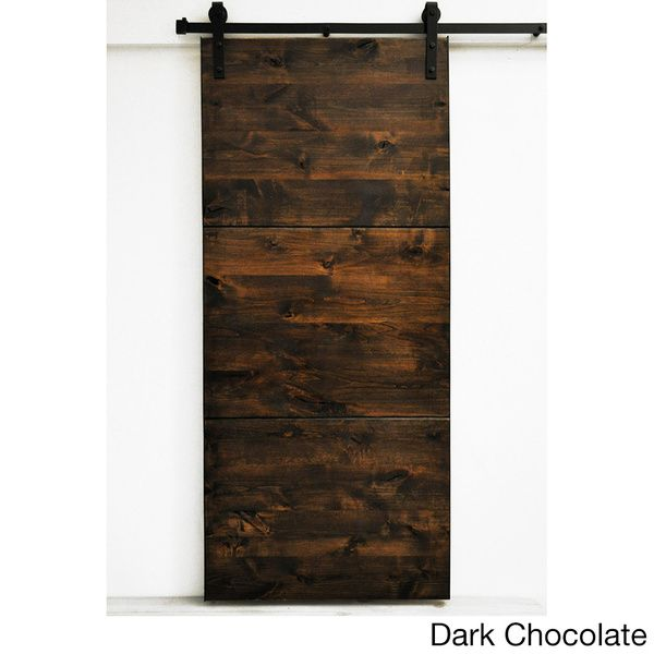 The Modern Slab Barn Door Featuring Large Slab Panels Of