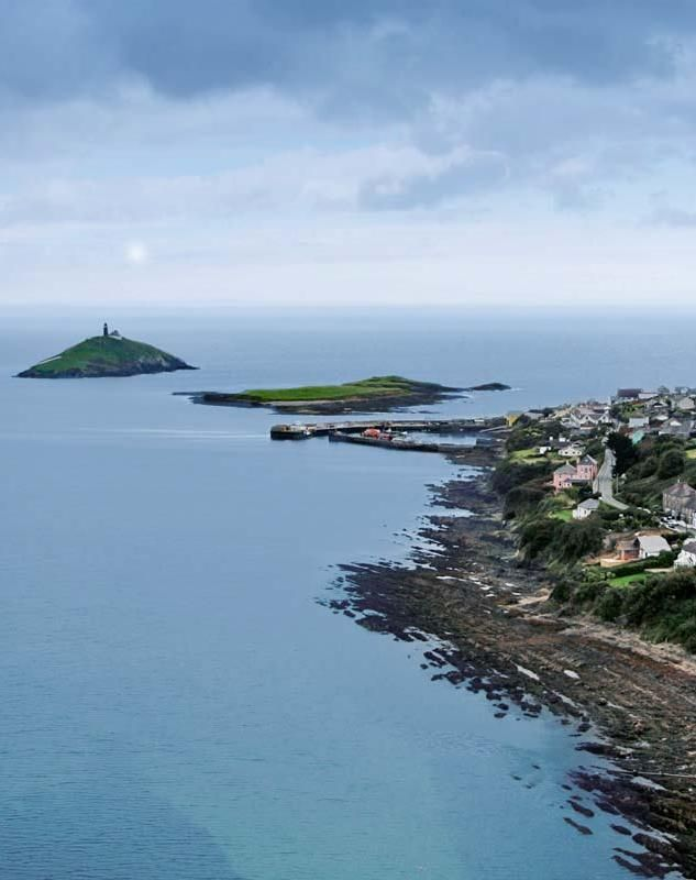 Aerial view of Ballycotton Harbour