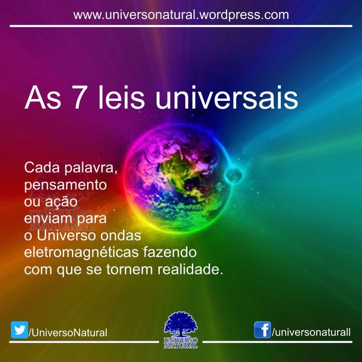 LEI DE CAUSA E EFEITO: Tudo o que você pensa, fala e faz, volta pra você. Cada palavra, pensamento ou ação enviam para o Universo ondas eletromagnéticas fazendo com que se tornem realidade. LEI DO ...