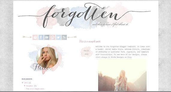 blog design from Always In Bluhm Designs / templates / blogger / custom designs