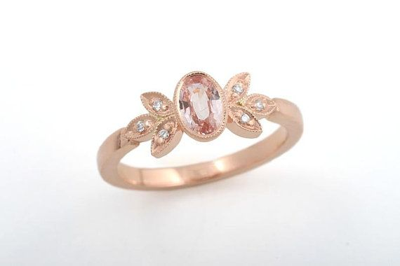 Gabriella-ring. Sapphire and rose gold engagement ring. CaiSanni