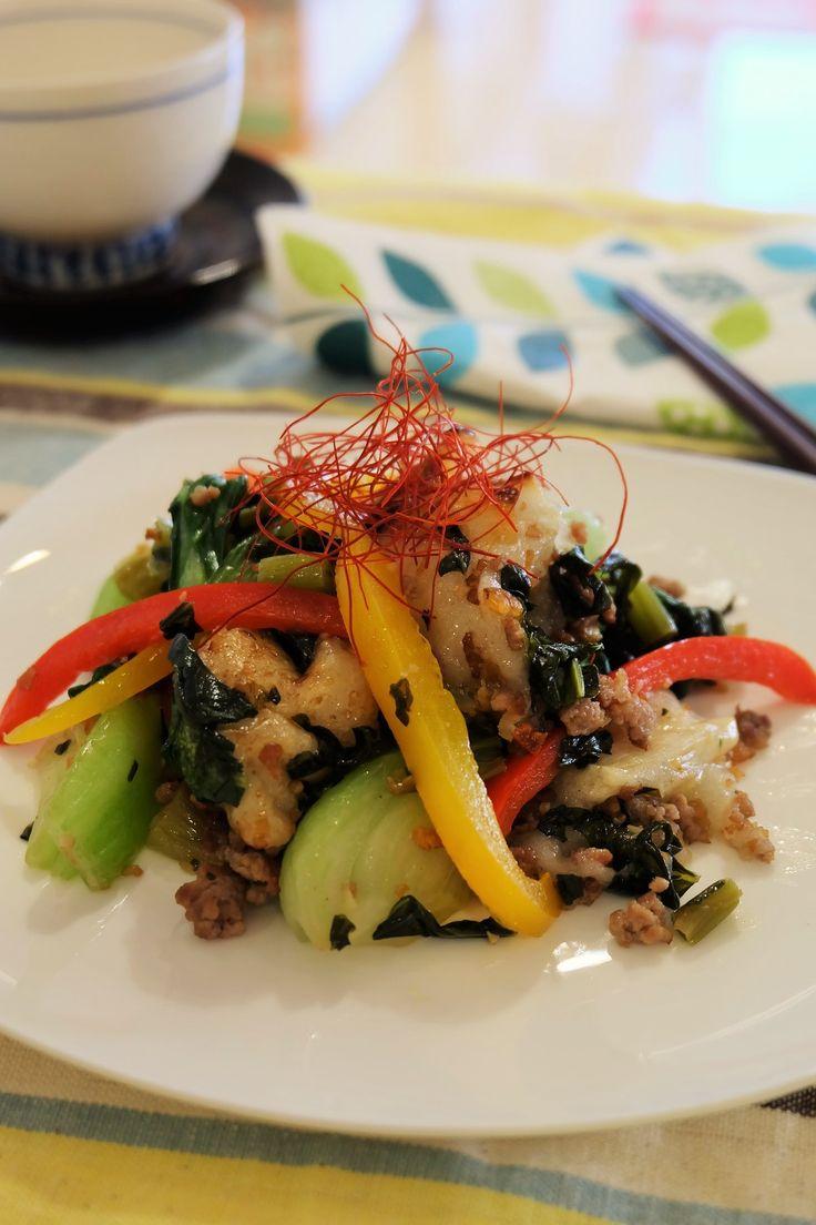 彩り野菜と高菜ともちの中華炒め。 by がまざわ たかこ | レシピサイト「Nadia | ナディア」プロの料理を無料で検索