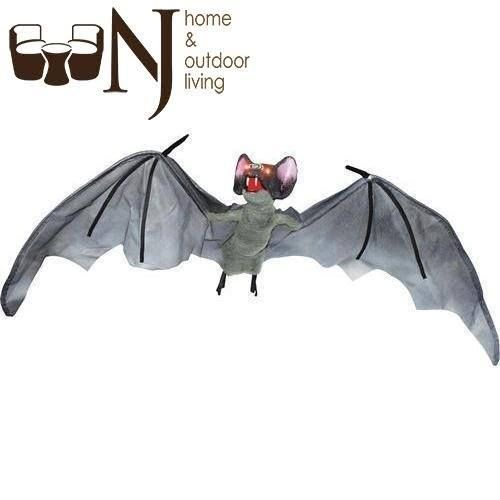 A frightening #prop with many practical #Halloween applications! Sound activated bat has #eyes that light up, #wings that move and various sounds. #Halloweenday #Halloweenoffer #Halloweensale #AnimatedBat #bat