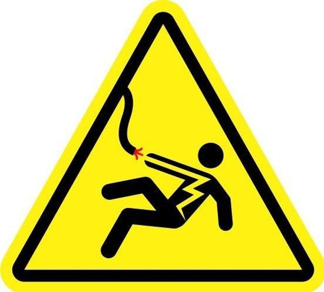 Sign Electric Shock Hazard Meaning Owner Assumes No Responsibility For The Injuries And Or Death Of Anyone Mo Geometric Pattern Background Hazard Sign Signs