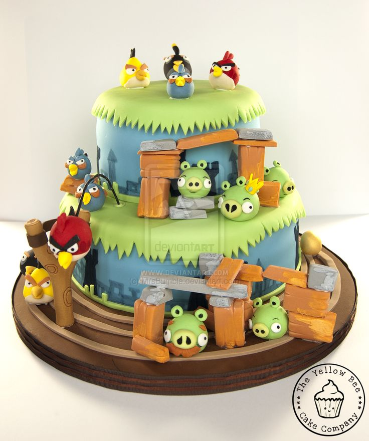 17 best images about angry birds cakes cupcakes on for Angry birds cake decoration