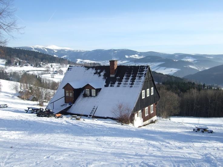 chata Petrolejka v Jizerských horách (Paseky nad Jizerou)