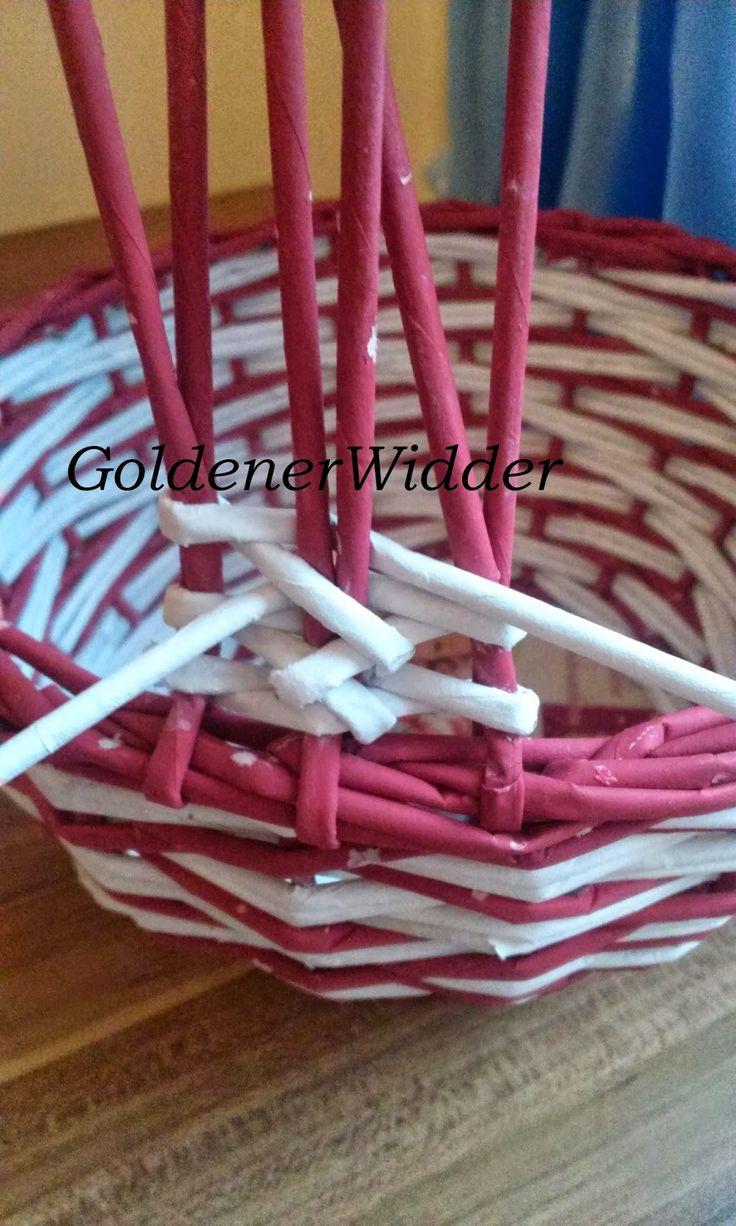 Плетение из газетных трубочек: Ажурная ручка. Ажур. Ручка.
