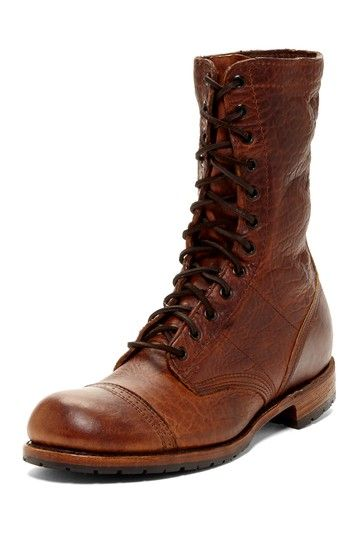 Nathaniel Peanut Bison Lace-Up Boot by Vintage Shoe Co. on @HauteLook