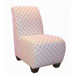 Polka Dot Dresser   Skyline Furniture 27-1KPDP (Polka Dot Pink) - Polka Dot Chair in Pink