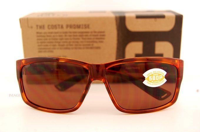 f2500ed2e083 Costa Del Mar Fishing Sunglasses Cut Honey Tortoise Copper 580P Polarized   FishingSunglasses
