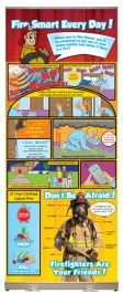 Fire Smart Every Day! Presentation Display - This display is a great way to teach children what they need to do during a fire emergency in order to stay safe.