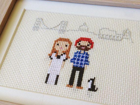 Location / New Home Custom Pixel Cross Stitch Portrait (Framed) by Scarlet Pyjamas  Celebrate your happy places!