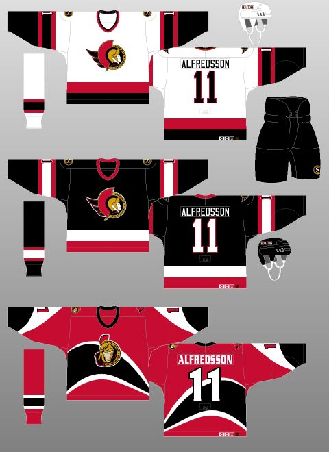 Ottawa Senators 1997-99 - The (unofficial) NHL Uniform Database