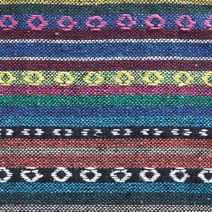 Tissu mexicain rayé multicolore