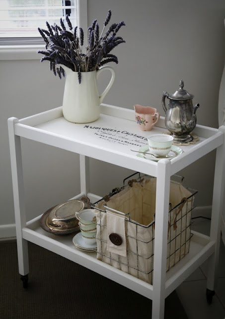 The Whimsical Wife: Antique Tea Trolley                                                                                                                                                                                 More