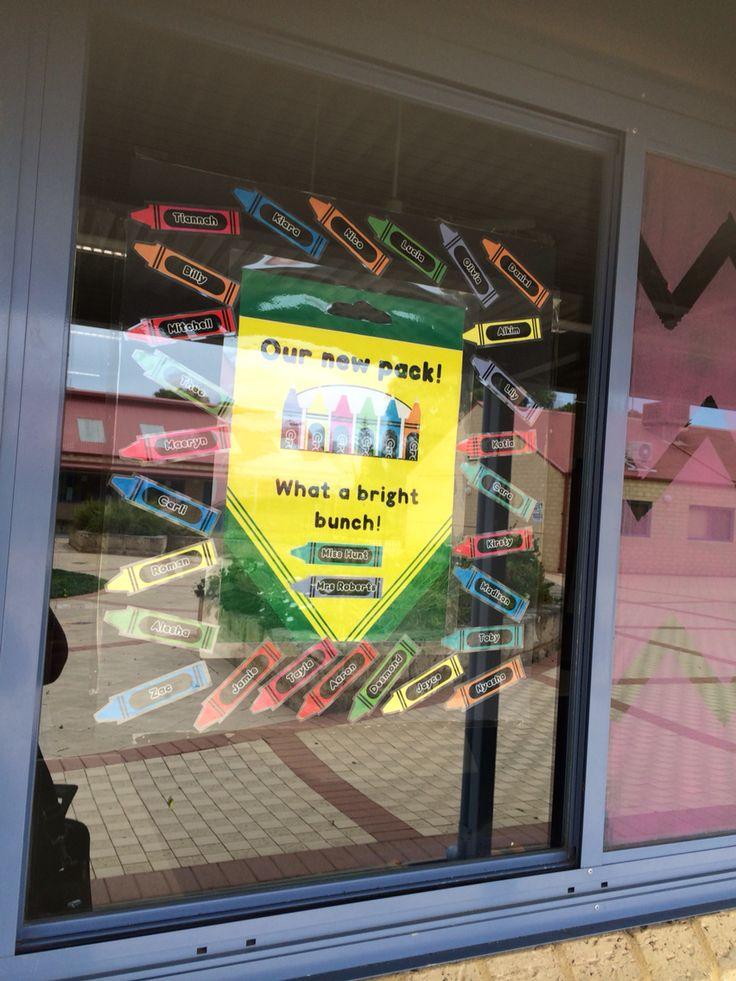 Crayola inspired door sign