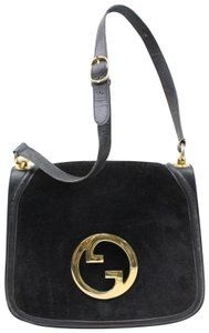 603014112f2d Gucci Equestrian Accents Blondie Bold Gold Accents Mint Vintage Rare  Suede Leather Hobo Bag