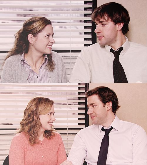 a love story that my heart will always melt for: Pam and Jim from the office