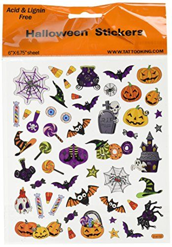 Tattoo King SK129MC-1320 Multicolored Sticker Halloween Icons