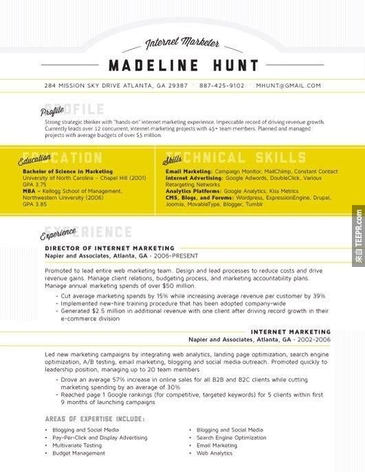 31 best RESUME images on Pinterest Cv template, Resume design and - examples of successful resumes