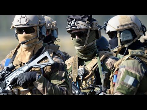 International Special Forces in Action During Intense Special Force Demonstrations And Exercises