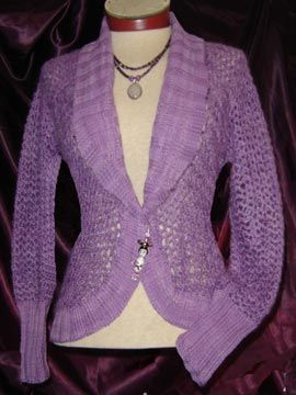 Lovely shawl colared cardigan pattern from White lies designs