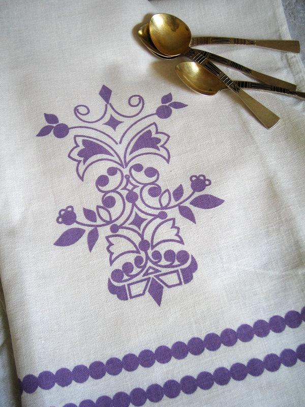 FOLKLORE hand screen printed tea towel: Tea Towels, Hands, Printed Tea, Folklore Hand, Teas, Screens