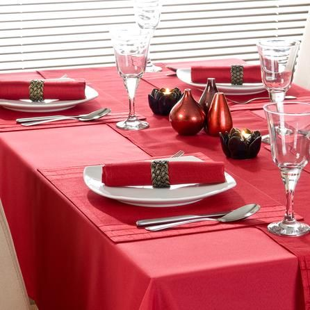 Red Spectrum Collection Tablecloth | Dunelm