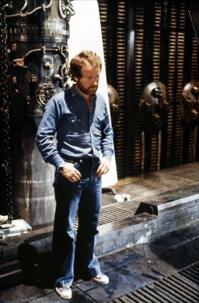 Ridley Scott on the set of Alien (1979)