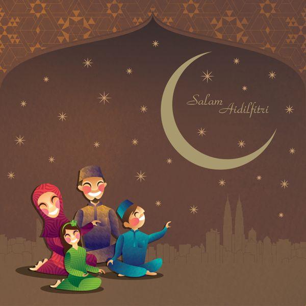 hari raya greeting card on Behance