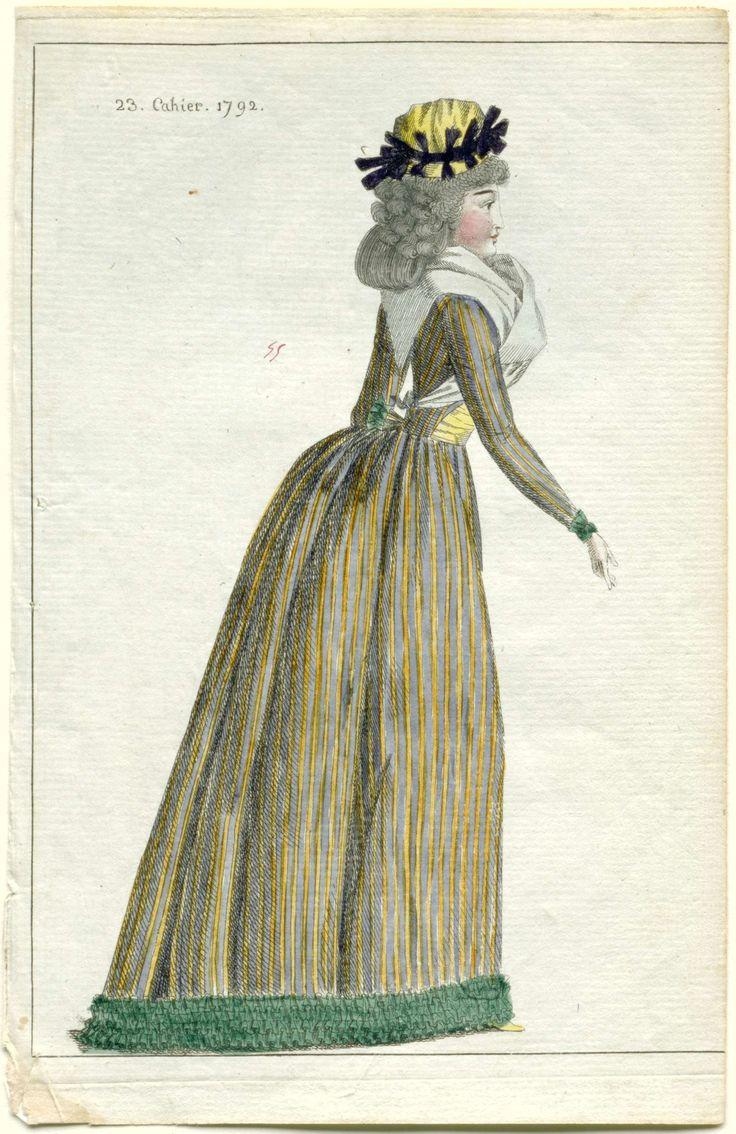 Journal de la Mode et du Goût, 10 octobre 1792, 23e cahier, pl. 1, M. Le Brun, 1792