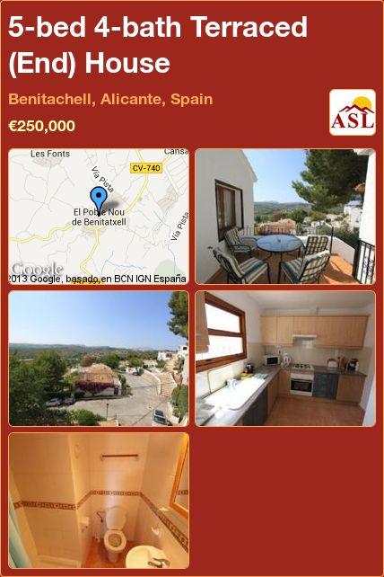 5-bed 4-bath Terraced (End) House in Benitachell, Alicante, Spain ►€250,000 #PropertyForSaleInSpain