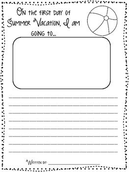 End of the year and summer writing prompt sheets to keep your kiddos BUSY  and writing the last few weeks of school! :)