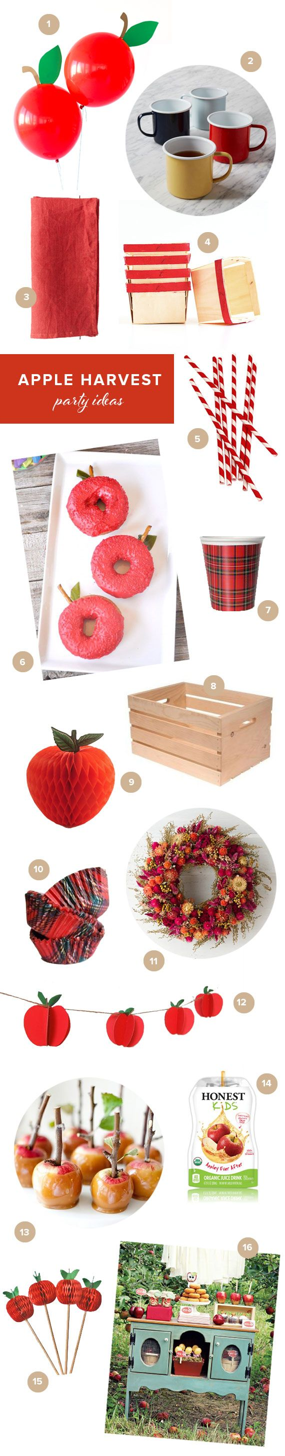 Apple harvest party ideas   100 Layer Cakelet